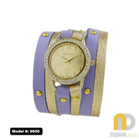 lavender-and-gold-dual-color-wrap-leather-watch