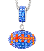 Blue-and-orange-crystal-football-charm-pendant