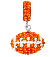 light-orange-and-white-football-charm-pendant