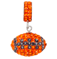 Orange-and-black-football-necklace-charm-pendant