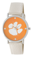 Clemson-Tigers-Vegan-Leather-Watch