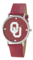 Oklahoma-Sooners-OU-Vegan-Leather-Watch