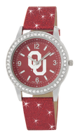 Oklahoma-Sooners-OU-Glitter-Band-Watch
