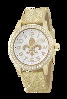 Fleur-de-Lis-Bling-Watch