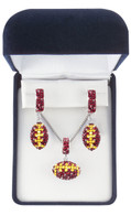 Maroon-and-gold-crystal-football-set