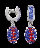 Blue-and-orange-football-crystal-earrings