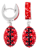 Red-and-black-crystal-football-earrings