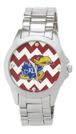 Kansas-Jayhawks-Metal-Chevron-Watch