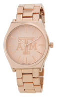 Texas-A-and-M-rose-gold-metal-watch