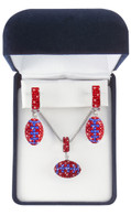 Red-and-blue-crystal-football-jewelry-set