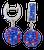 Blue-and-orange-baseball-earrings