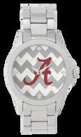Alabama Crimson Tide Metal Chevron Watch