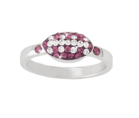 Purple-and-white-crystal-football-ring