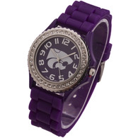 Kansas-State-Wildcats-Jelly-Watch-Stone-Bezel