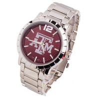 Texas-A-and-M-mens-metal-watch