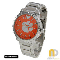 Clemson-Tigers-Mens-Metal-Watch