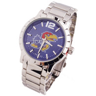 Kansas-Jayhawks-Mens-Metal-Watch