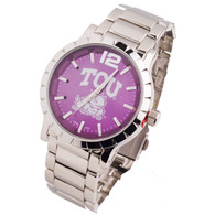 TCU-Texas-Christian-Horned-Frogs-Mens-Metal-Watch