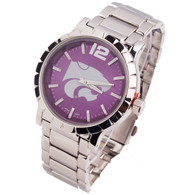 Kansas-State-Wildcats-Mens-Metal-Watch