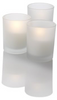"""2"""" Premium LED Votive Candle in Frosted Glass Battery-Operated Flameless 72pcs/Case"""