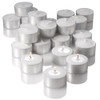 7 Hour Tealight Candles Extended Burn White 7 hr Unscented Tealights Long Burning Candles Set of 400