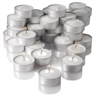 Full Case of Tealight  In Aluminum Cups White (500 pcs/cs)