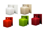 "3"" Tall Square Pillar Candles 12pcs per Case"