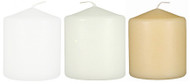 "3""x3 1/2""  Wholesale Pillar Candles  Bulk - Set of 12 Per Case"