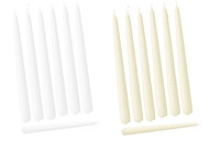 "12"" Patrician Premium Hand Dipped Taper Candle Bulk Event Pack (Set of 12)"