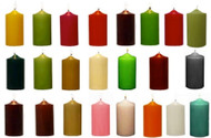 "3""x 6"" Inch Round Unscented Wholesale Colored Pillar Candles  - Full Case of 12 Pcs"