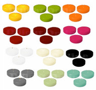 "3"" Colored Floating Candle Disk Unscented Individually Box of 24"