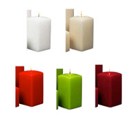 "5"" Tall Square Pillar Candles 12pcs per Case"