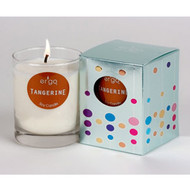 Ergo Soy Candle Solo Collection- 7oz Candle in Clear Glass-  Tangerine