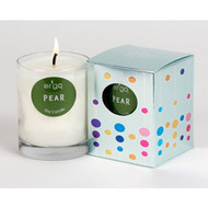 Ergo Soy Candle Solo Collection- 7oz Candle in Clear Glass-  Pear