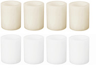 "4"" LED Wax Pillar Candle Pack: 12/Case Wholesale"