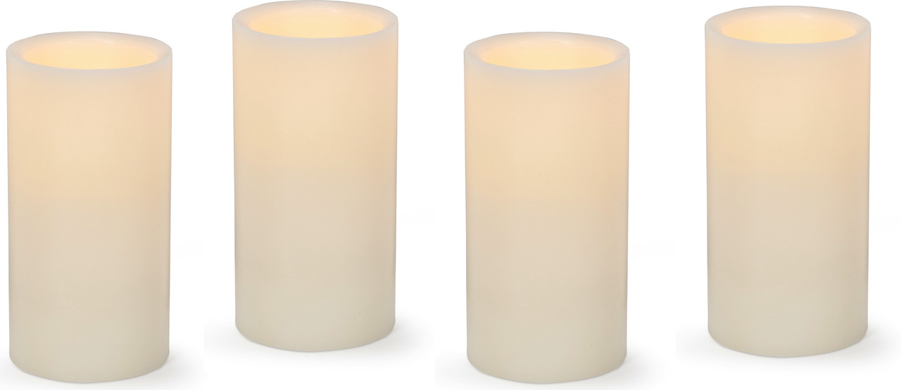 6 Quot Led Flameless Wax Pillar Candle Pack 12 Case Wholesale