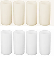 "6"" LED  Flameless Wax Pillar Candle Pack: 12/Case Wholesale"