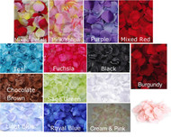100 Piece Bulk Elegant of Victoria lynn loose satin Rose Petals for Weddings