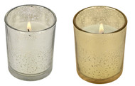 "10 Hour Mercury Glass Prefilled Votive ""Party Votive"" Poured Votive Candles Case of 75 Filled Glass Votive Candles Bulk"