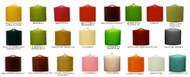 """3"""" x 3""""  Round Unscented Colored Pillar Candles - Full Case of 12 Pcs"""