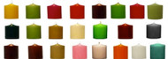 "3"" x 3"" Round Unscented Colored Pillar Candles - Full Case of 12 Pcs"