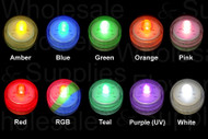 Box of 10 Acolyte Submersible Floralytes, Battery LED Submersible Underwater  Tea Lights