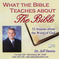 What the Bible Teaches About the Bible