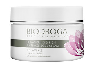 Biodroga Body Spa Relaxing Shimmering & Rich Anti-Age Body Cream, 200ml
