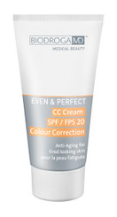 BIODROGA MD EVEN & PERFECT CC CREAM SPF 20 COLOR CORRECTION FOR TIRED LOOKING SKIN, 40ml
