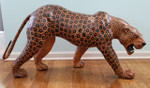 large leather cheetah