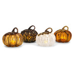 led glass pumpkin decor