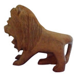 Hand Carved Lion Rustic Wood Sculpture Home Decor Safari Animal Statue