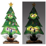 led christmas tree table top decor