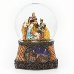 3 kings nativity snow globe